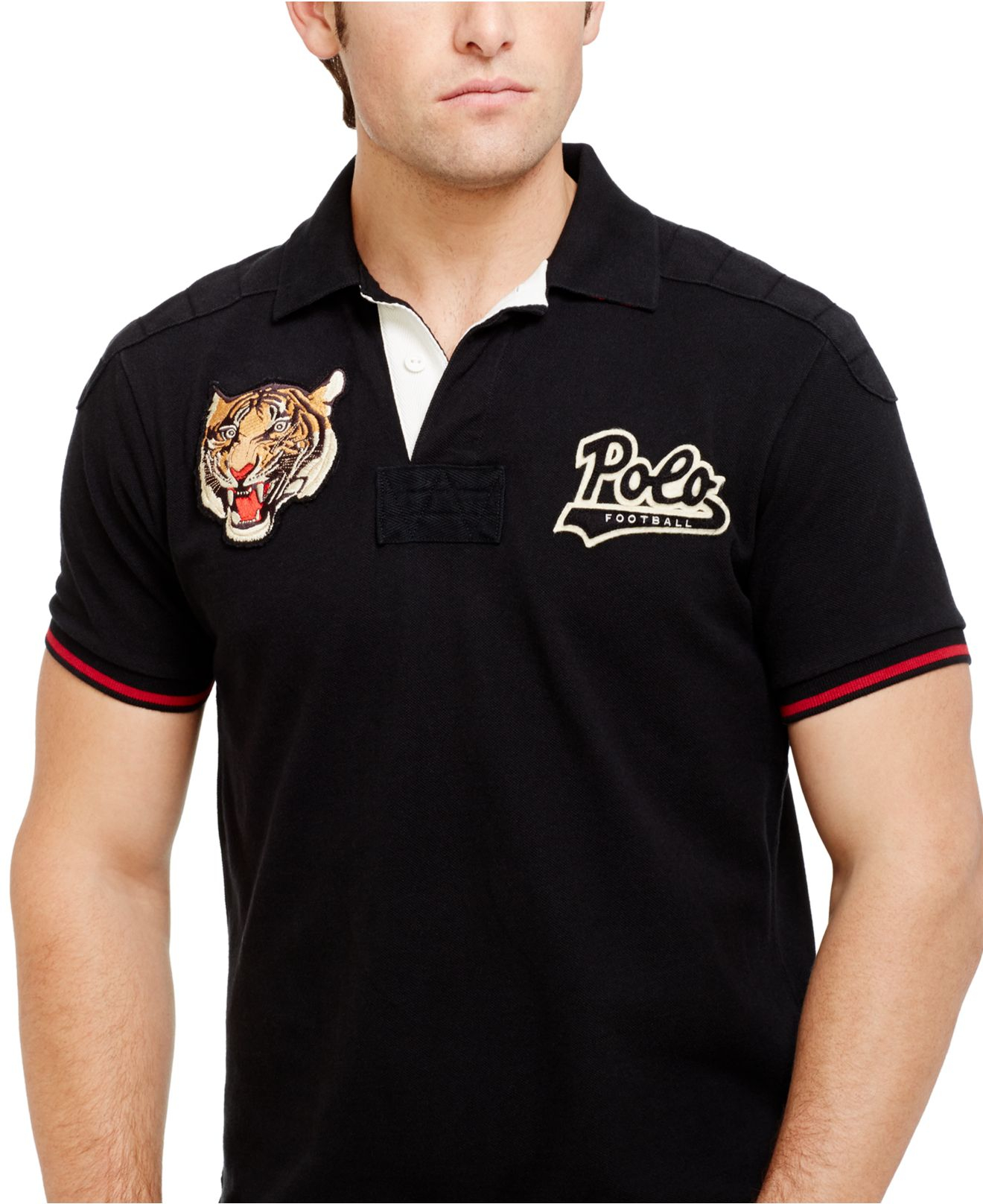 03a7894eb ... release date lyst polo ralph lauren custom fit tiger head polo in black  for men 3fdcc