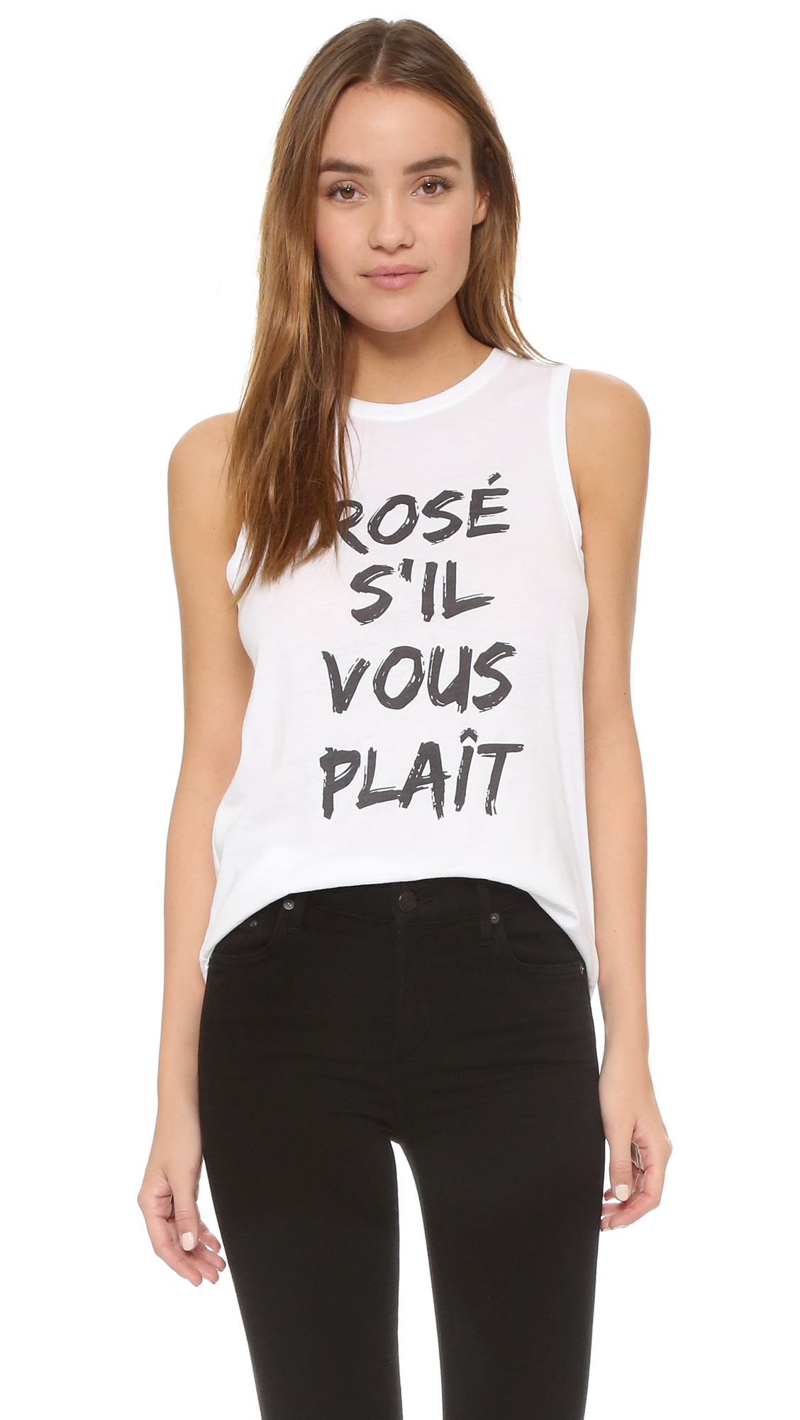 lyst south parade rose s 39 il vous plait muscle tank in white. Black Bedroom Furniture Sets. Home Design Ideas