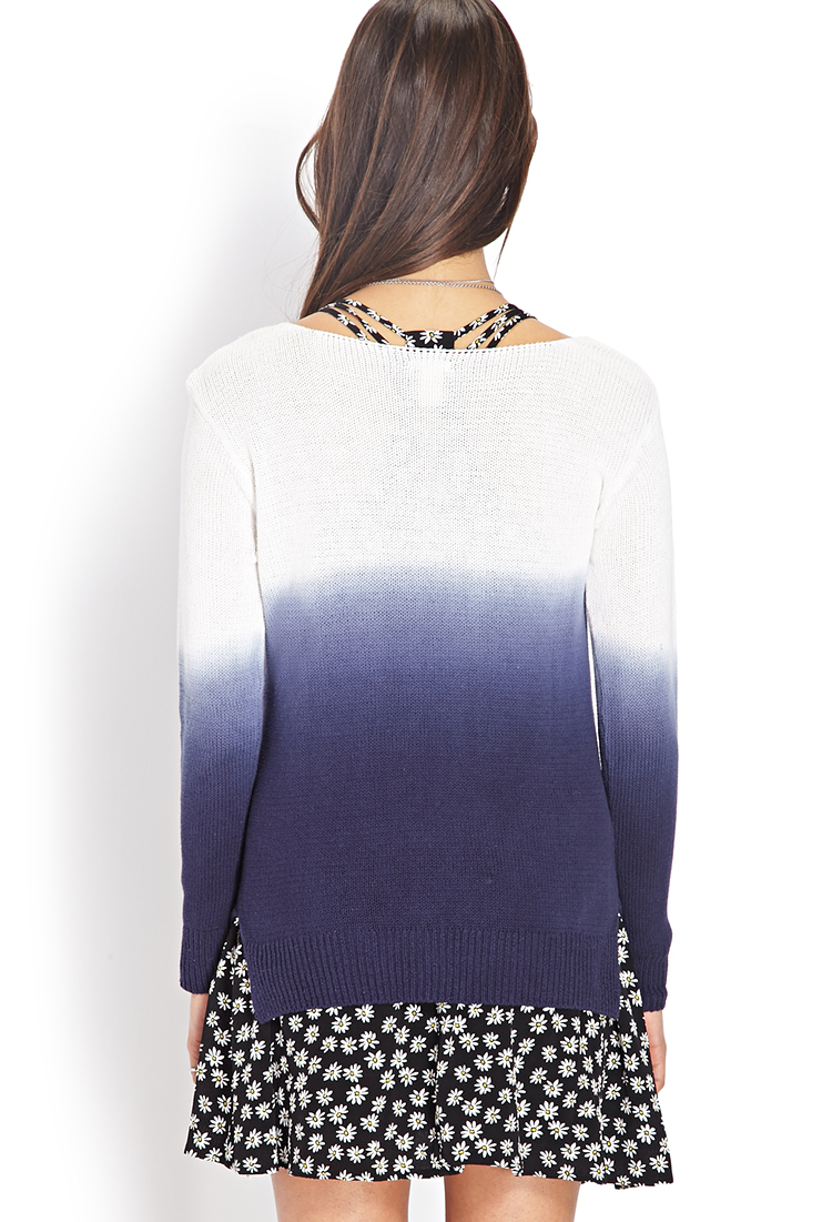 Lyst Forever 21 Soft Ombre Sweater In Blue