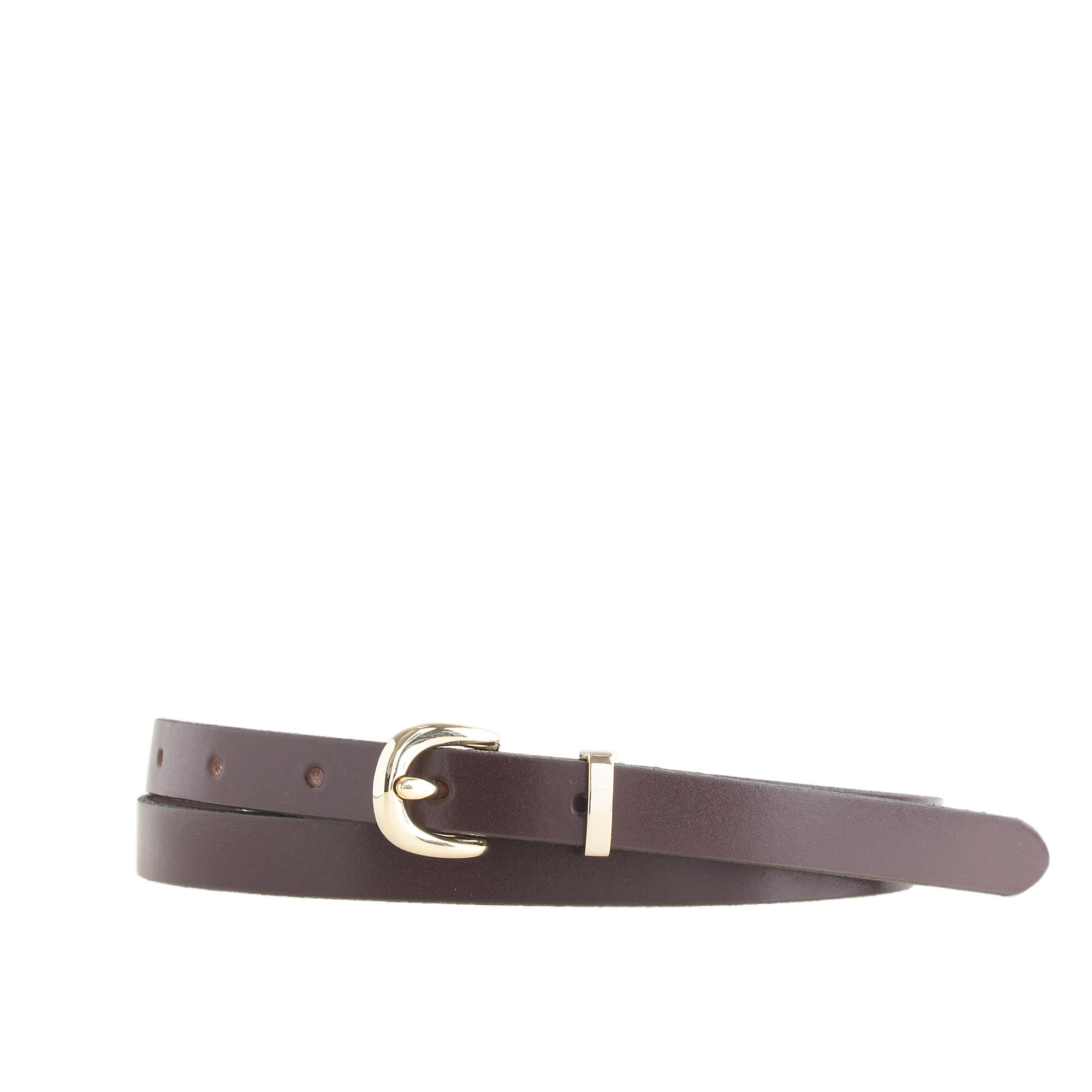 j crew leather belt in brown cocoa lyst