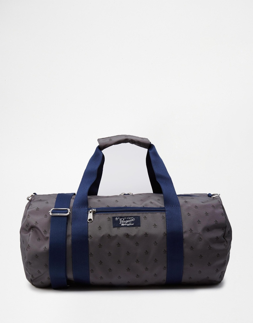 Lyst - Original Penguin Duffle Bag With All Over Print in Gray for Men e606f870c42bc