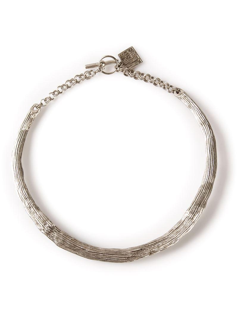 Kelly Wearstler 'aqueous' Collar Necklace in Metallic