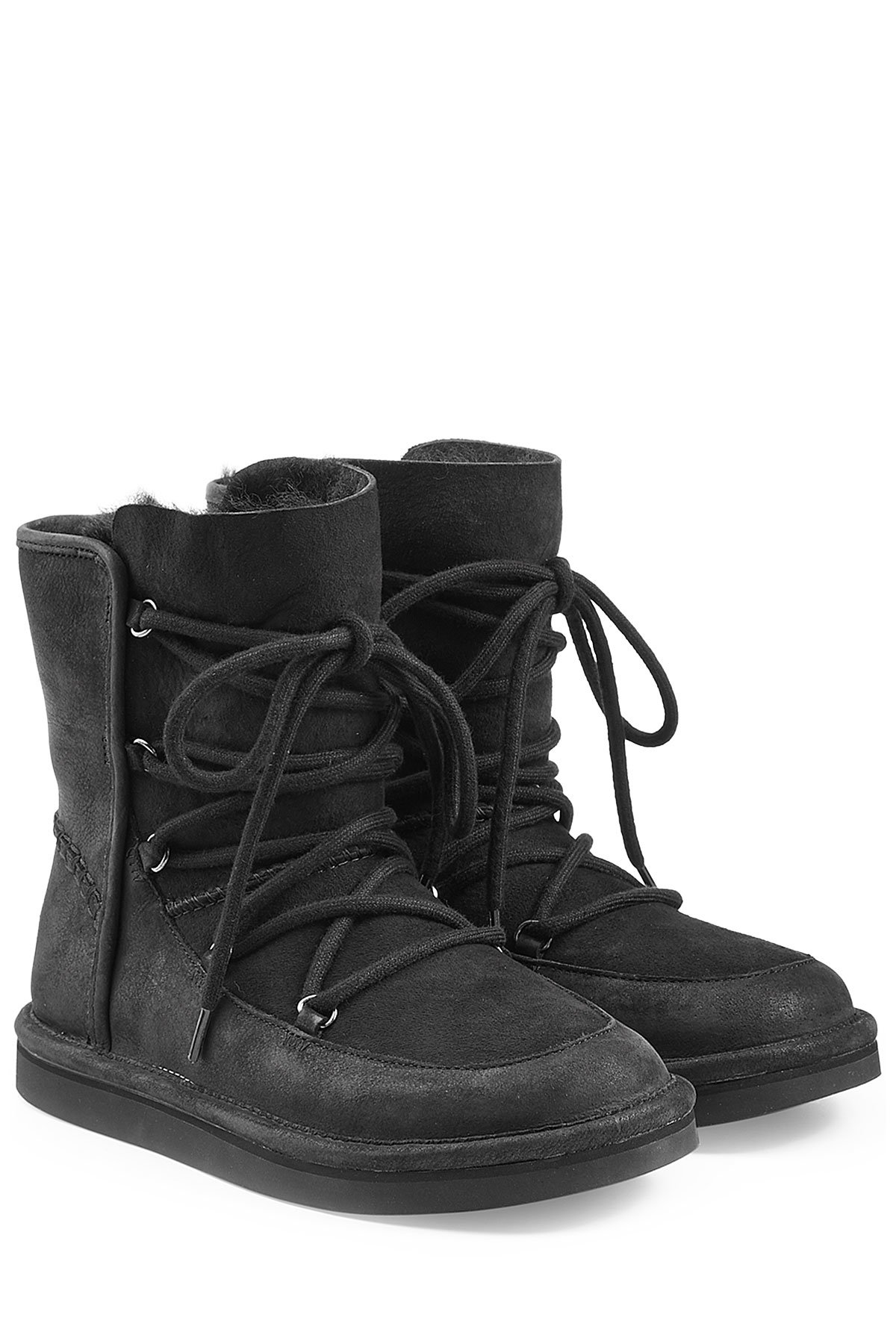 Ugg Lodge Water Resistant Suede Boots In Black Lyst