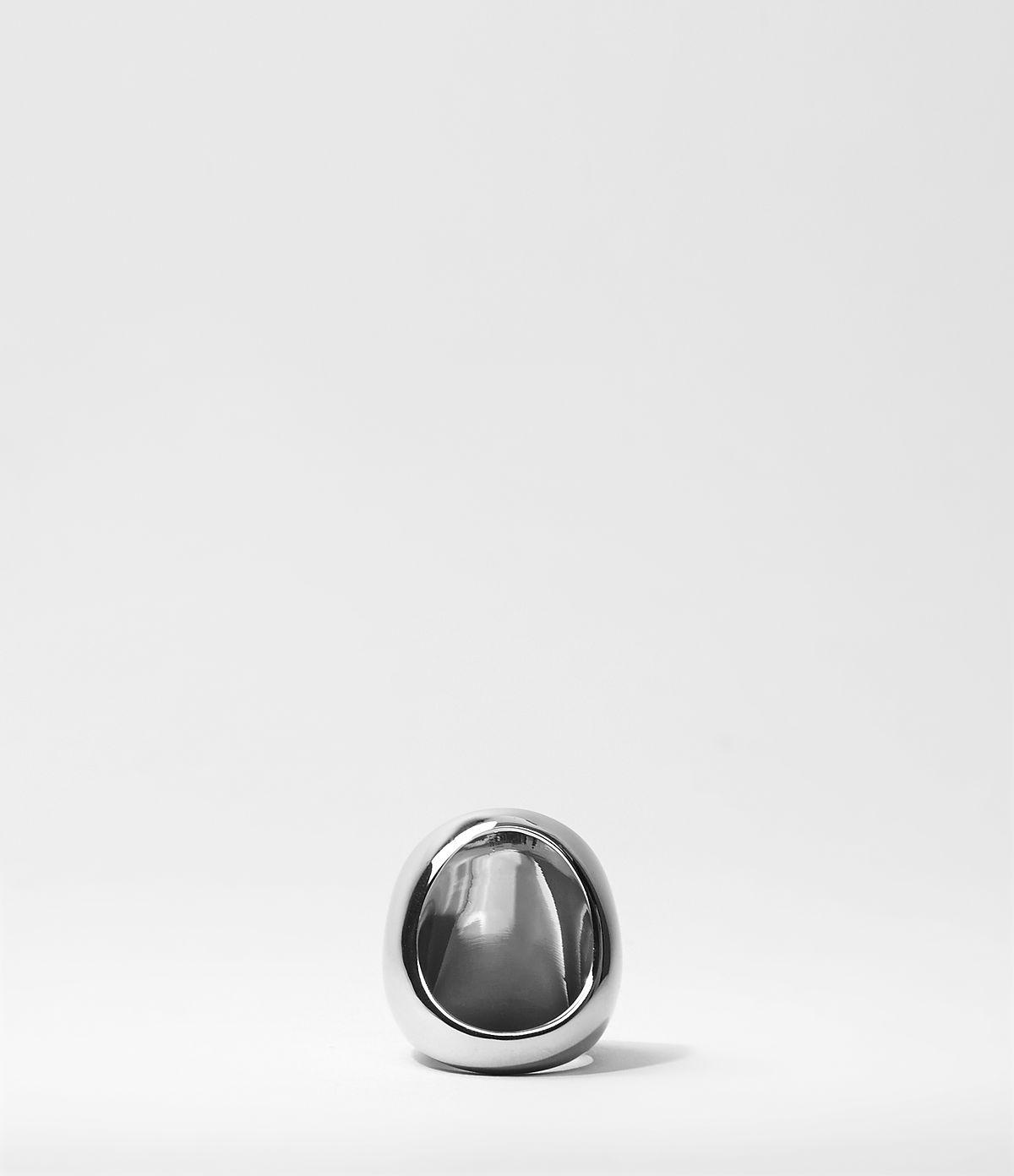 AllSaints Signet Ring in Silver/Black (Metallic)