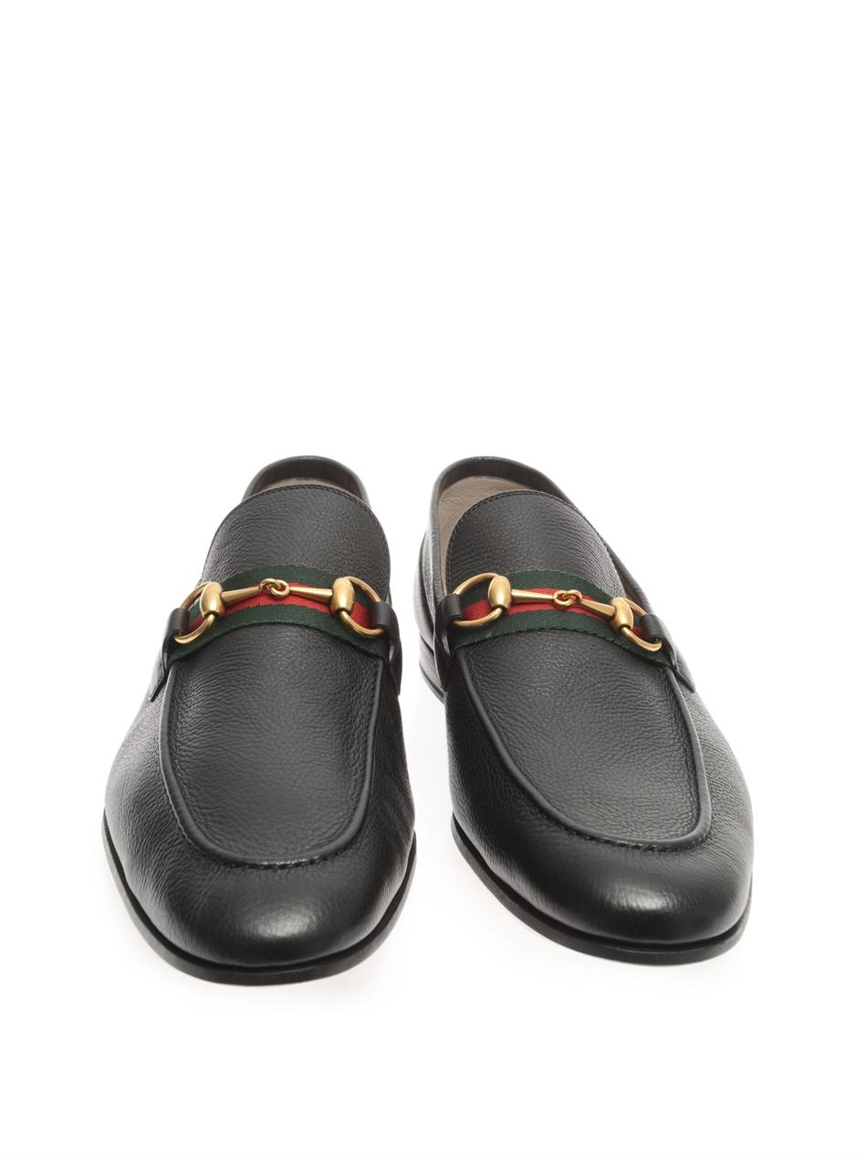 Gucci Snaffle Leather Loafers in Black