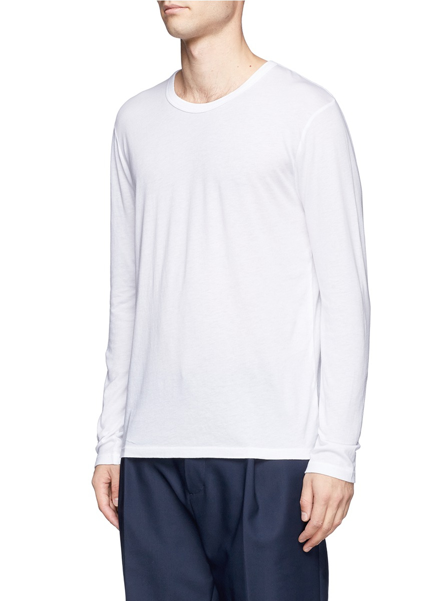 T by alexander wang long sleeve t shirt in white for men for Alexander wang t shirts