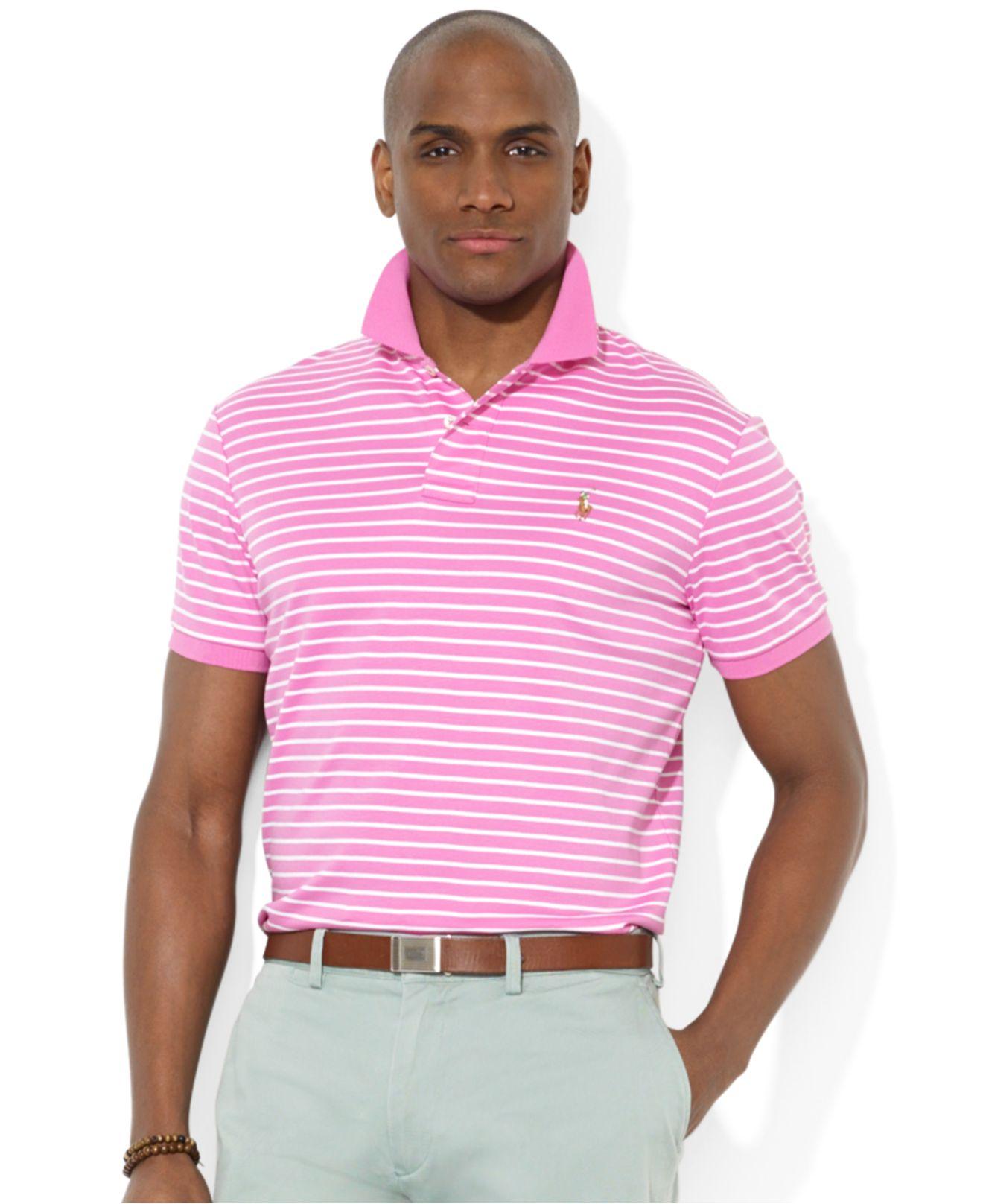 For Men Striped Shirt Pink Polo Softtouch Ralph Lauren Pima ZPiXuk
