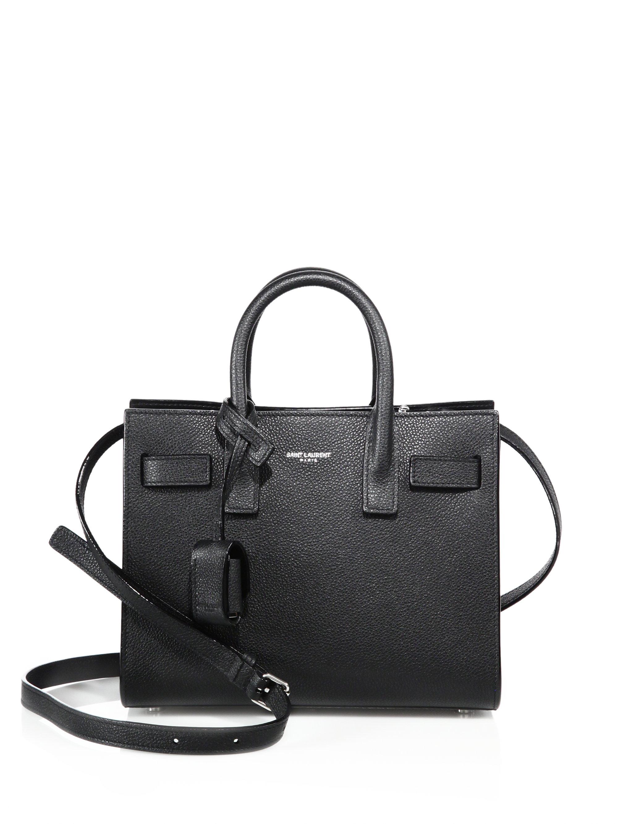 ysl classic bags - Saint laurent Sac De Jour Nano Grained Leather Tote in Black | Lyst