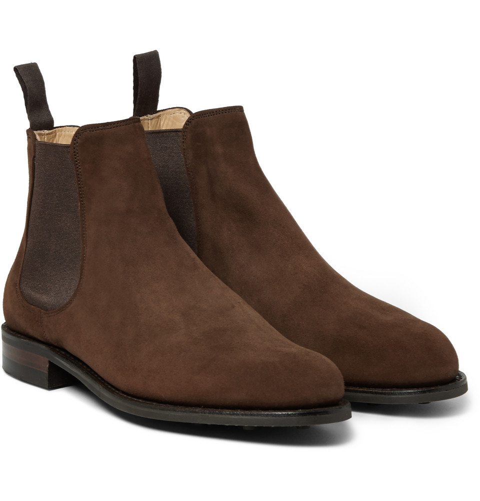 Cheaney Godfrey Suede Chelsea Boots In Brown For Men Lyst