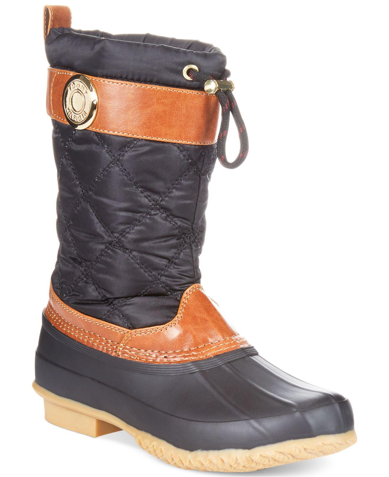 60b2860fa Lyst - Tommy Hilfiger Women s Arcadia Duck Boots in Black