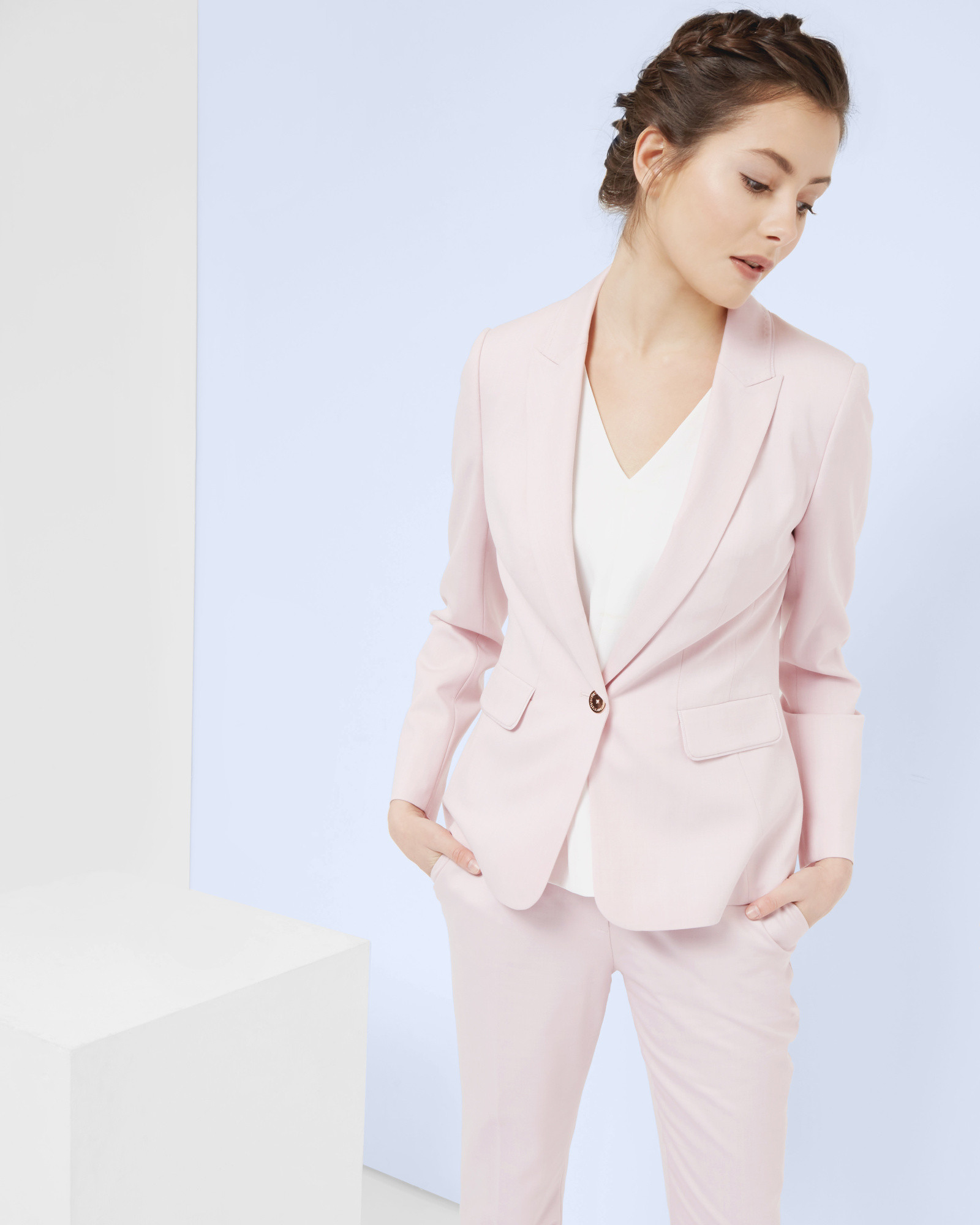 Ted baker Pastel Tailored Jacket in Pink | Lyst