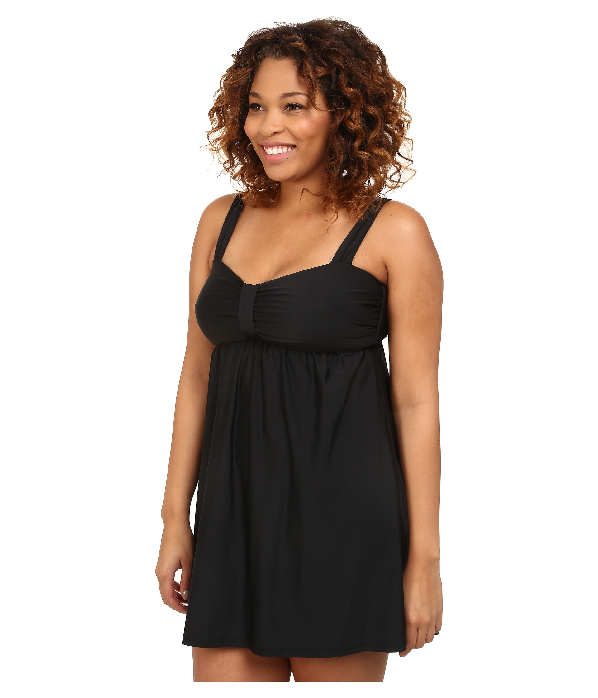 Athena Plus Size Finesse Underwire Swim Dress One Piece In