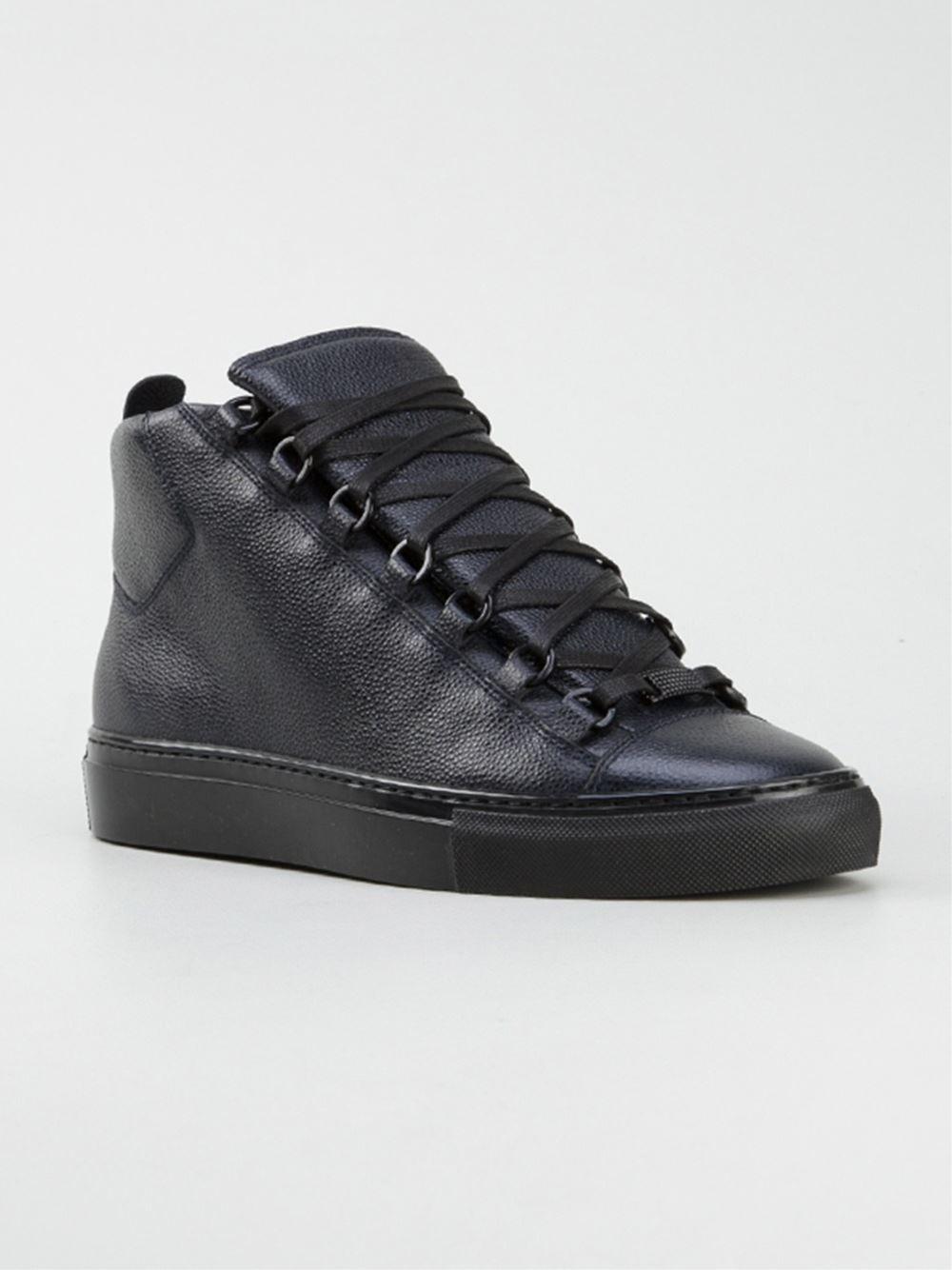 black balenciaga high tops