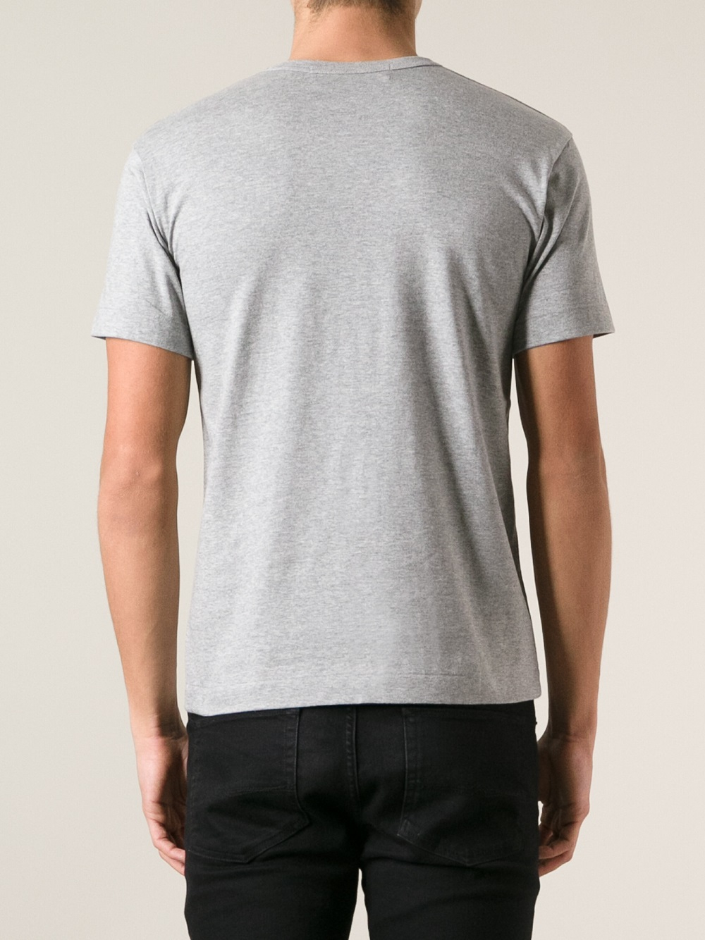 Play Comme Des Gar Ons Heart Print T Shirt In Gray For Men