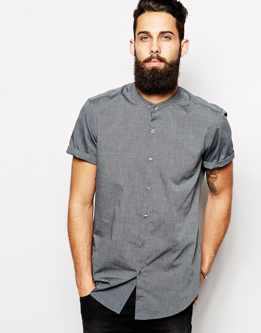 Asos Smart Shirt In Short Sleeve With End On End And