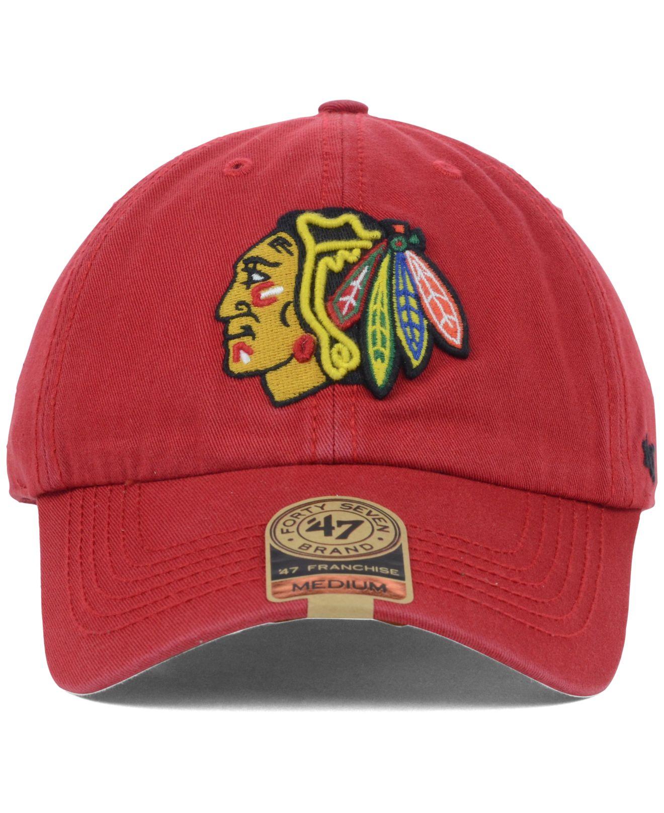 Lyst - 47 Brand Chicago Blackhawks Franchise Cap in Red for Men abfa26da0