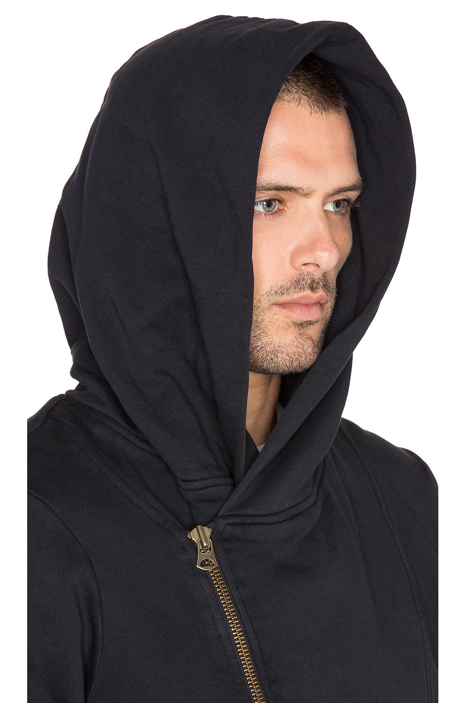 Scotch & soda Biker Hooded Zip Sweater in Black for Men | Lyst