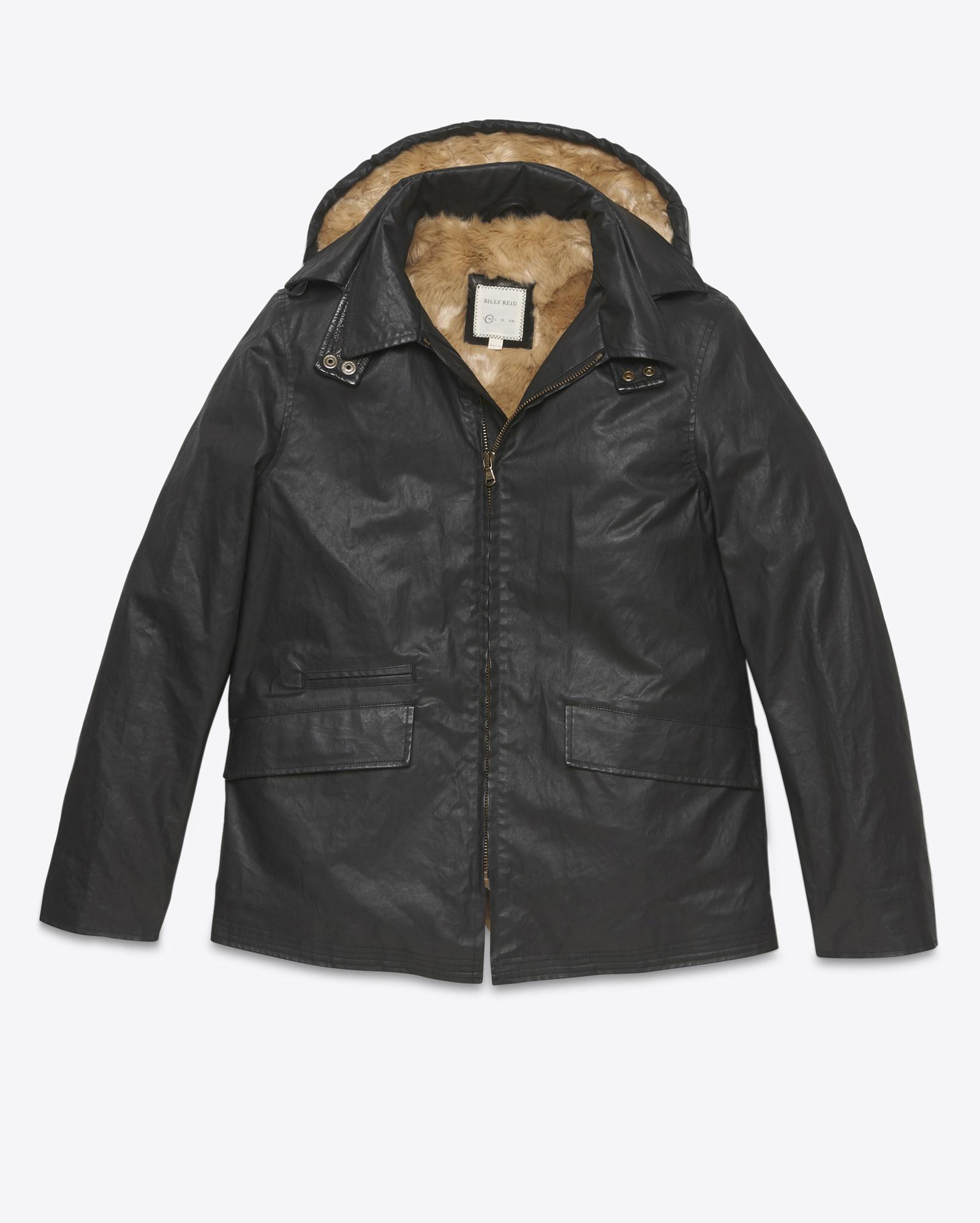 Lyst Billy Reid Nathaniel Coat In Black For Men