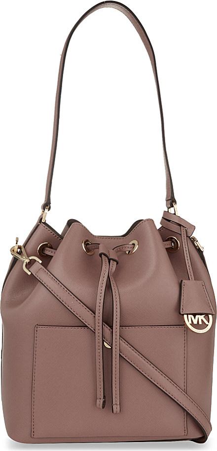 6e4fb8e8803a MICHAEL Michael Kors Greenwich Large Saffiano Leather Bucket Bag in ...