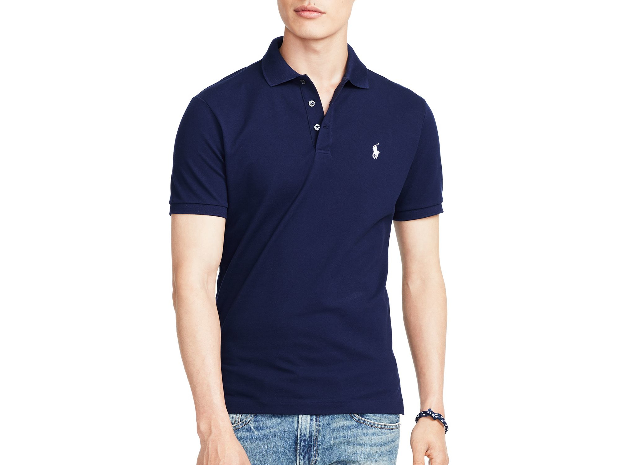 Polo Ralph Lauren Slim Fit Poloshirt French Navy d5b6f1e1e