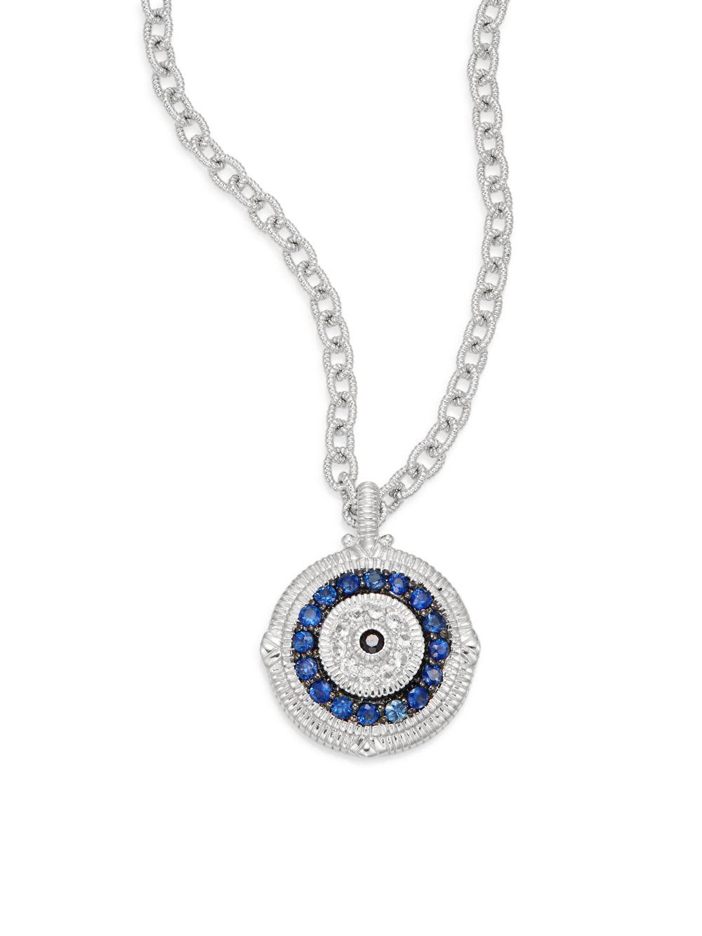 Judith Ripka Lucky Blue White Amp Black Sapphire Evil Eye