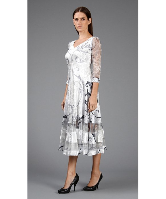 Tea Length La Femme Dresses
