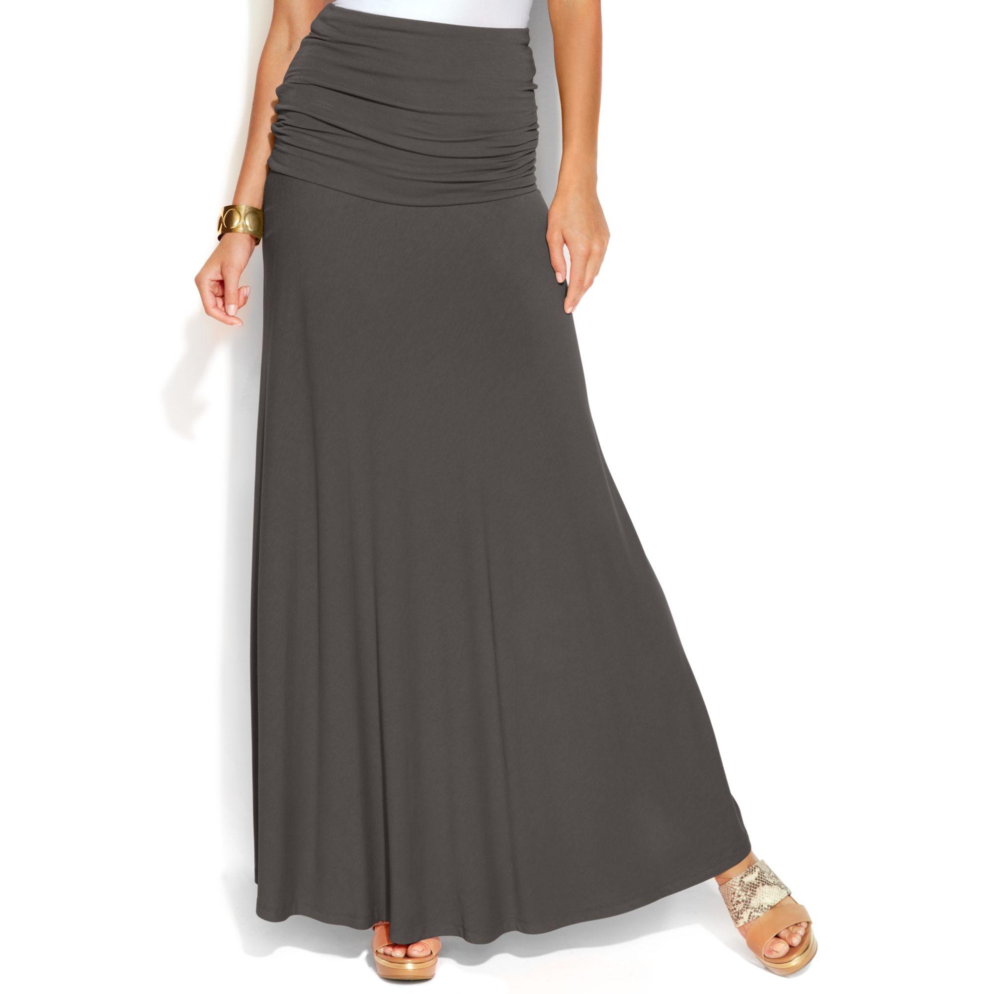inc international concepts convertible maxi skirt in gray