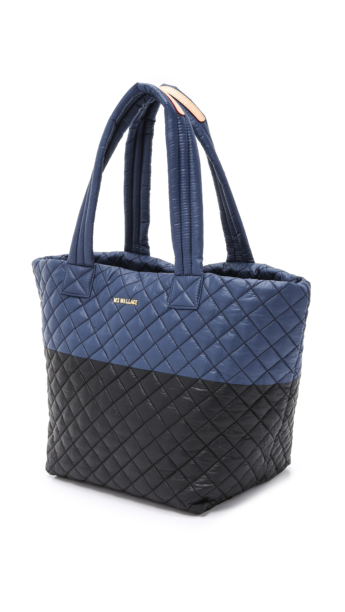 MZ Wallace Medium Metro Tote - Midnight Blue/black