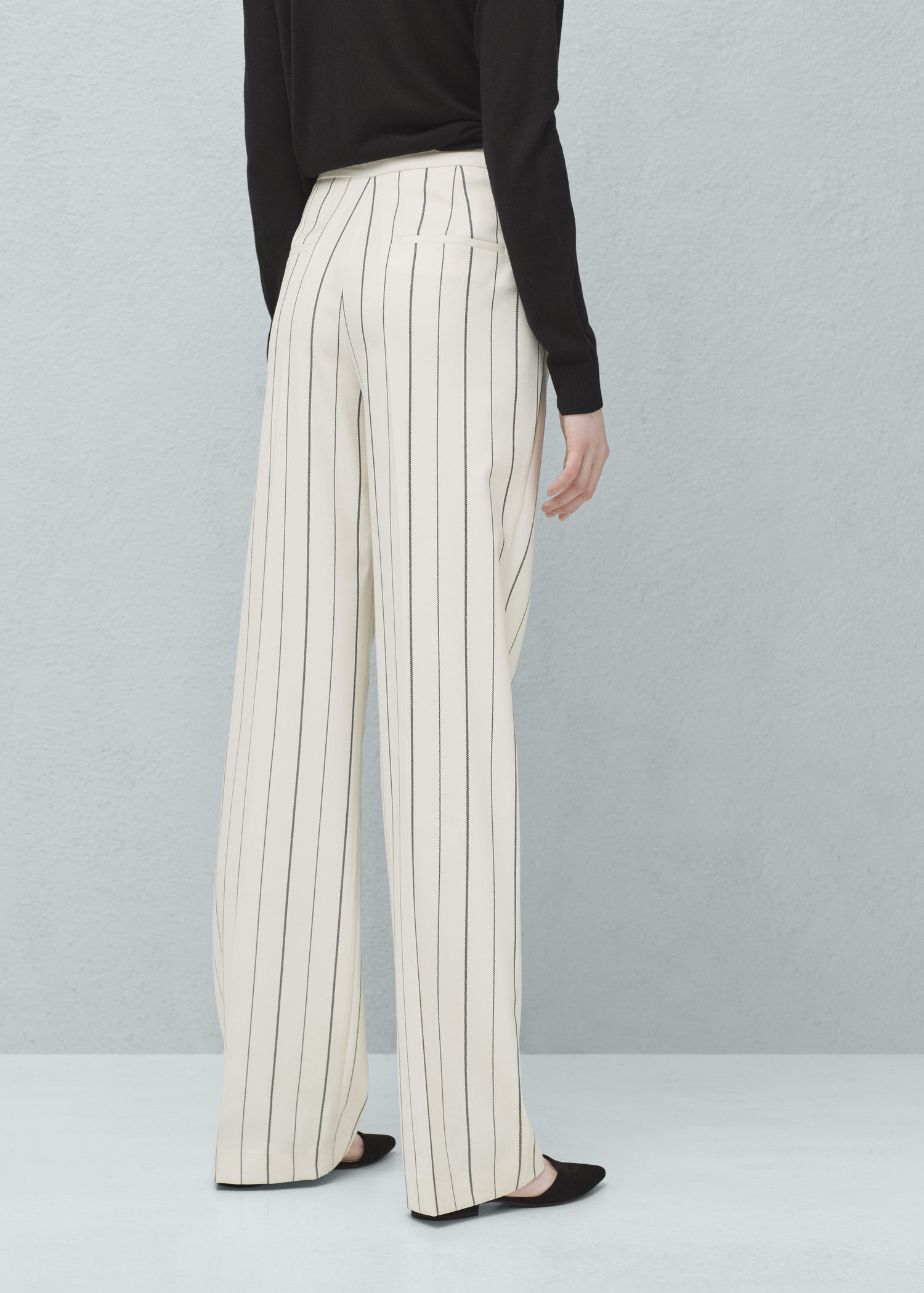 f5caca8923 Lyst - Mango Straight Striped Trousers in White