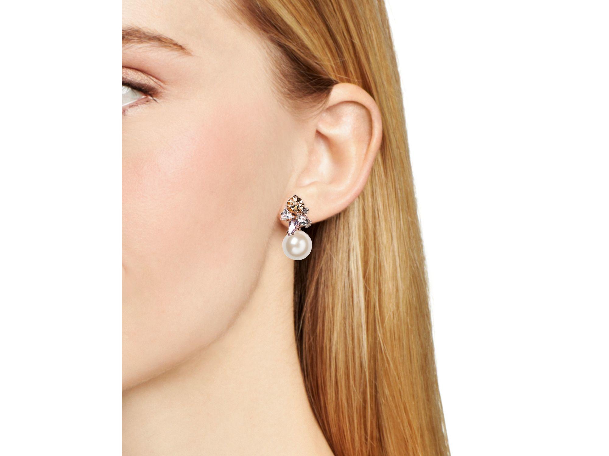 Kate Spade Cluster Ear Jackets in Rose Gold (Pink)