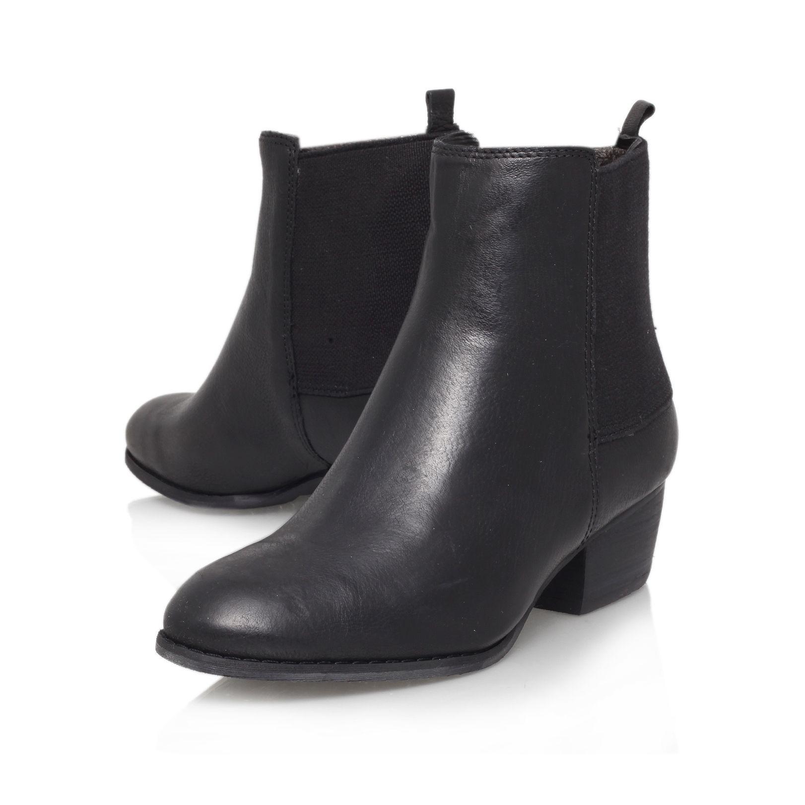 Nine west Jerryrig Low Block Heeled Ankle Boot in Black | Lyst