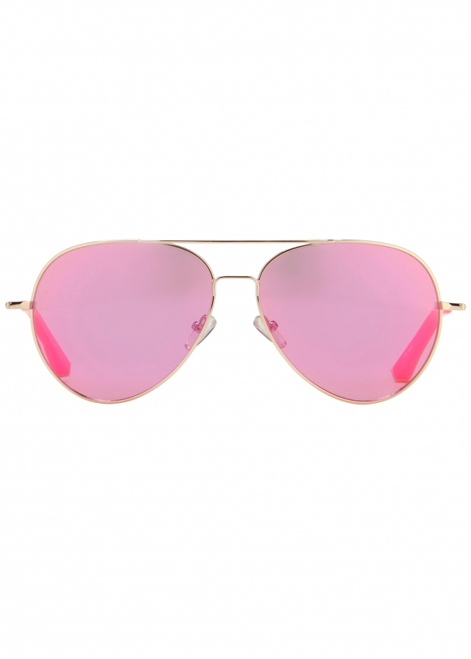 Matthew Williamson Pink Aviator Sunglasses in Pink