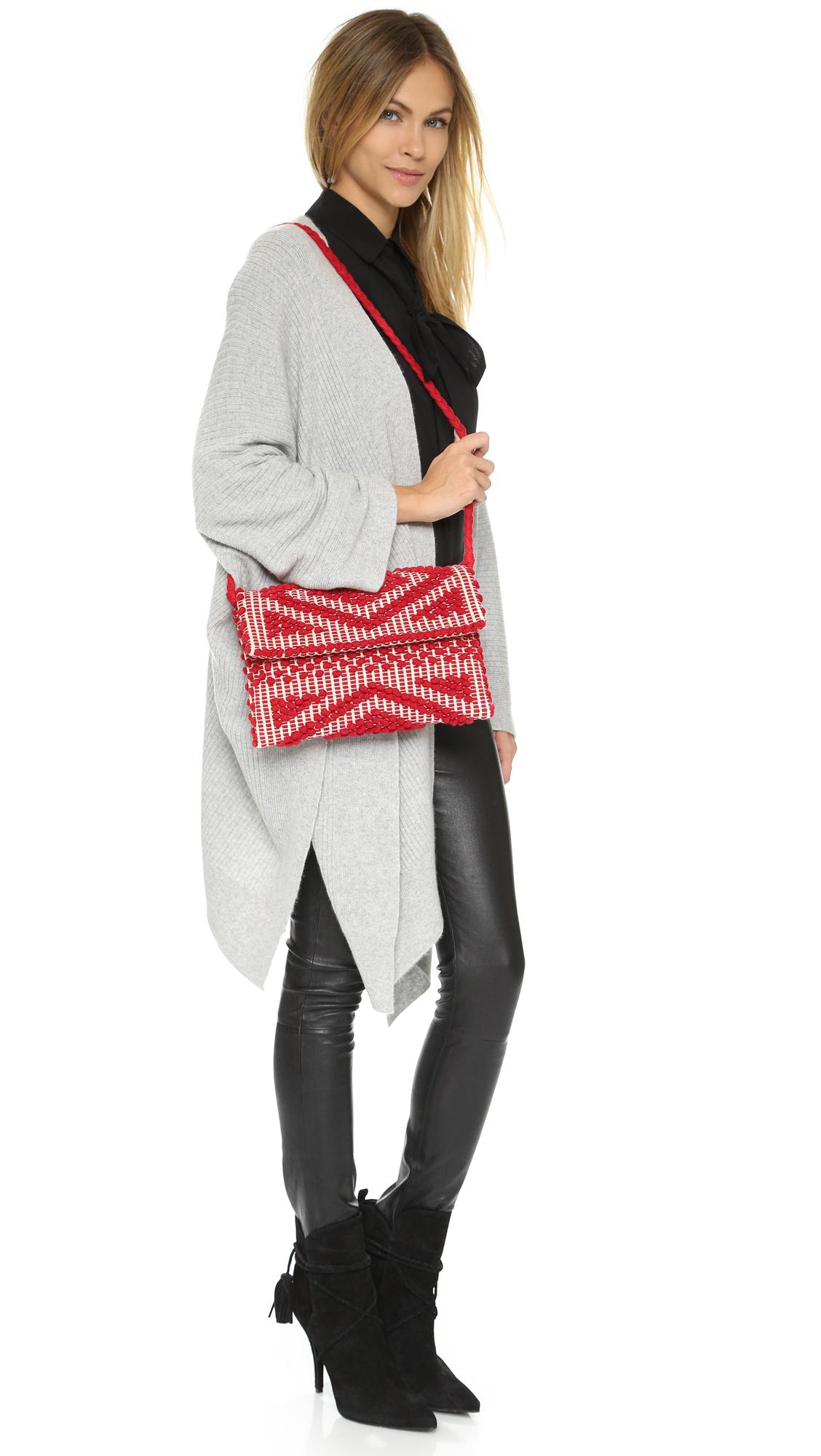 Antonello Suni Cross Body Bag in Red/Ivory (Red)