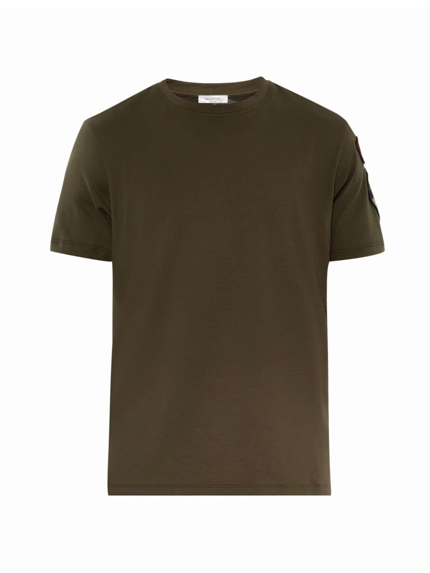 Valentino Embroidered-Patch Army T-Shirt in Green for Men | Lyst