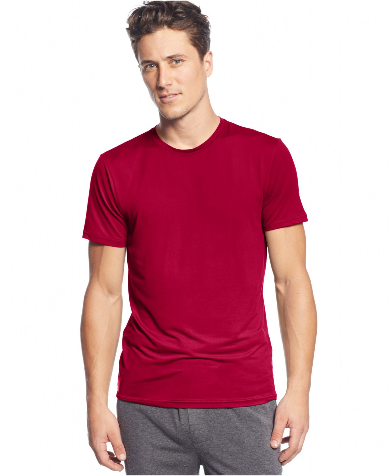 ASOS DESIGN longline long sleeve t-shirt with crew neck in muscle fit 2 pack SAVE. $ ASOS DESIGN crew neck t-shirt in beige. $ ASOS DESIGN longline muscle fit t-shirt with crew neck and stretch in red. $ ASOS DESIGN muscle fit t-shirt with roll sleeve 10 pack SAVE. $