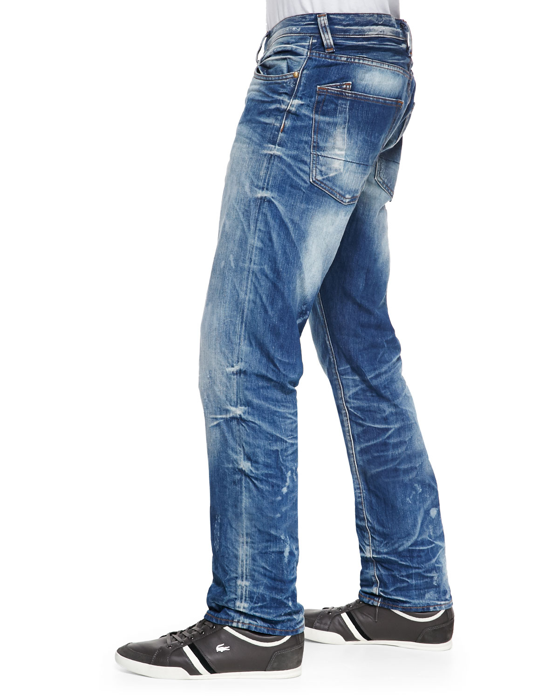 PRPS Barracuda Bleach Blue Denim Jeans In Blue For Men