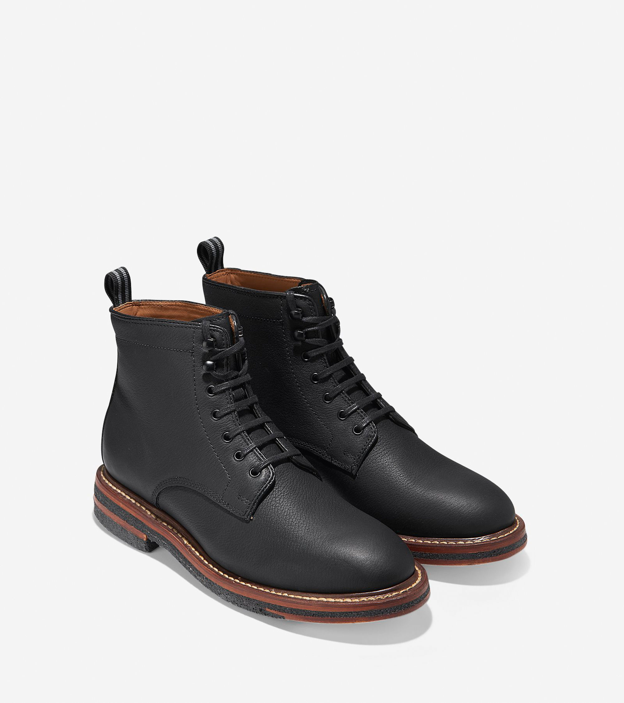 cole haan bryling lace boot in black for lyst