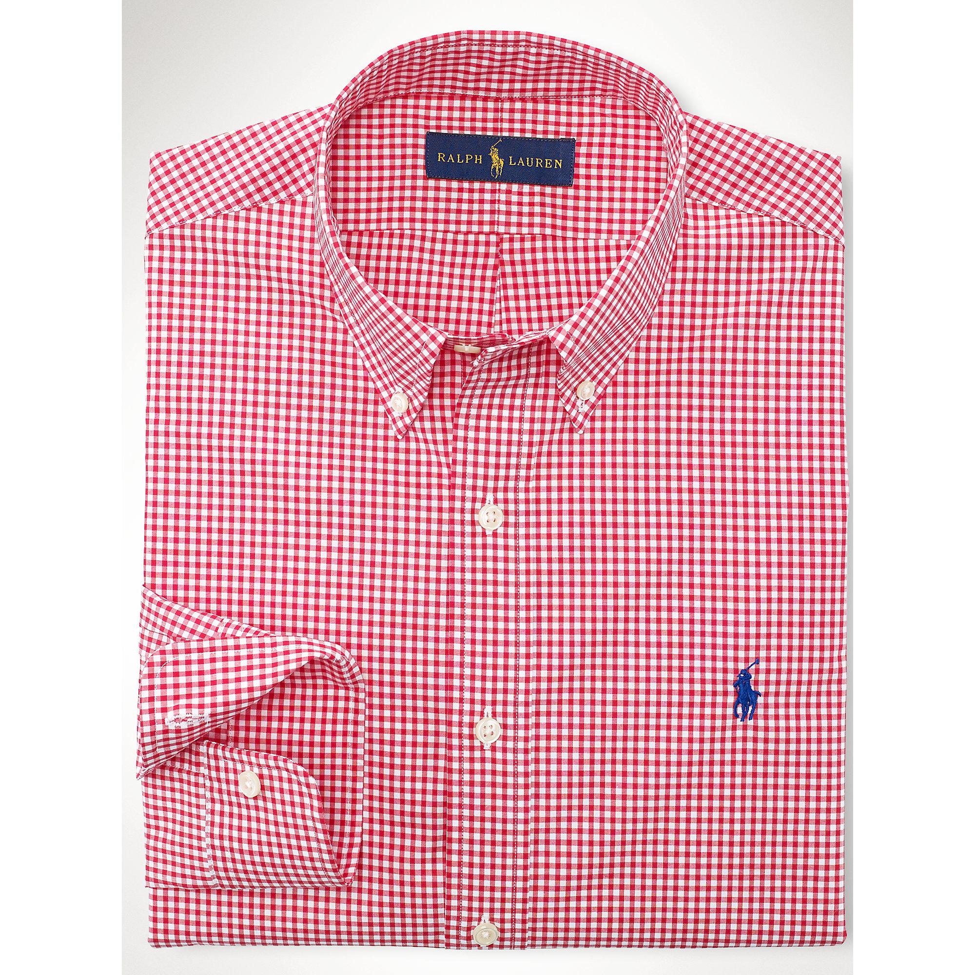 Red Gingham Shirt Men