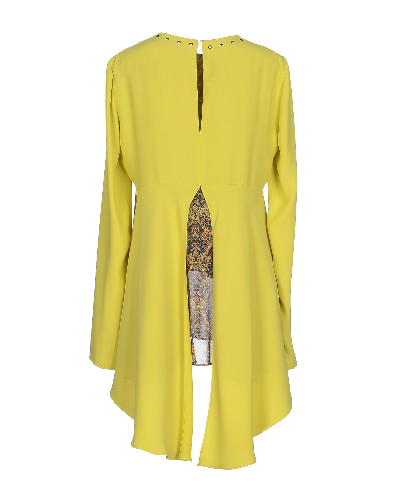 just cavalli blouse in yellow lyst. Black Bedroom Furniture Sets. Home Design Ideas