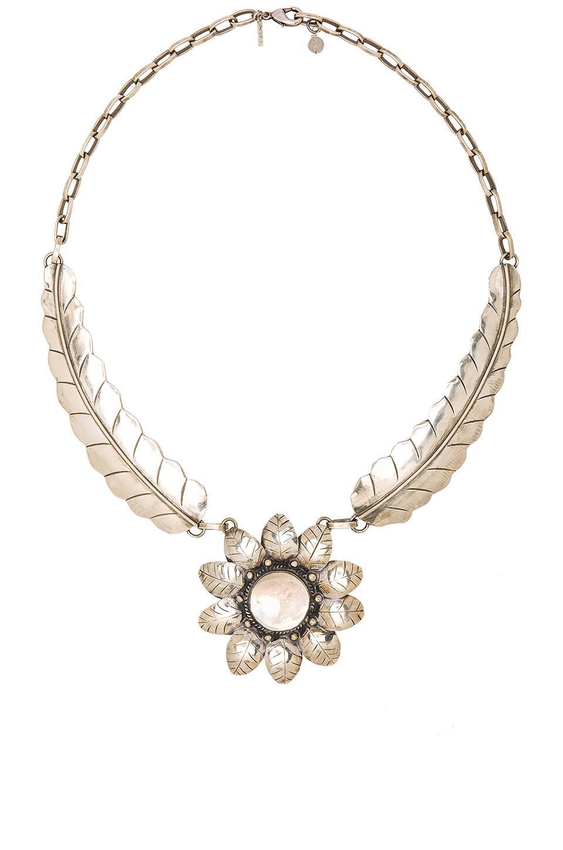 natalie b jewelry el sol necklace in metallic lyst
