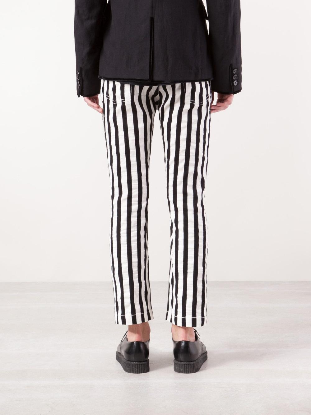 Ann Straight In Lyst Demeulemeester Leg Black For Stripe Men Trousers FK1JT3cl