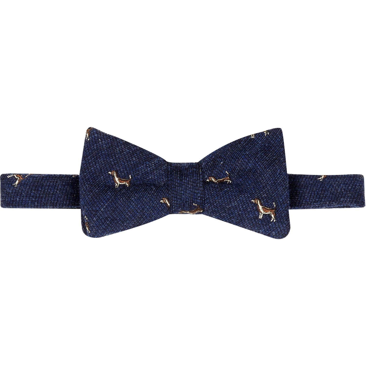 River island Navy Dog Print Bow Tie in Blue for Men (navy) | Lyst