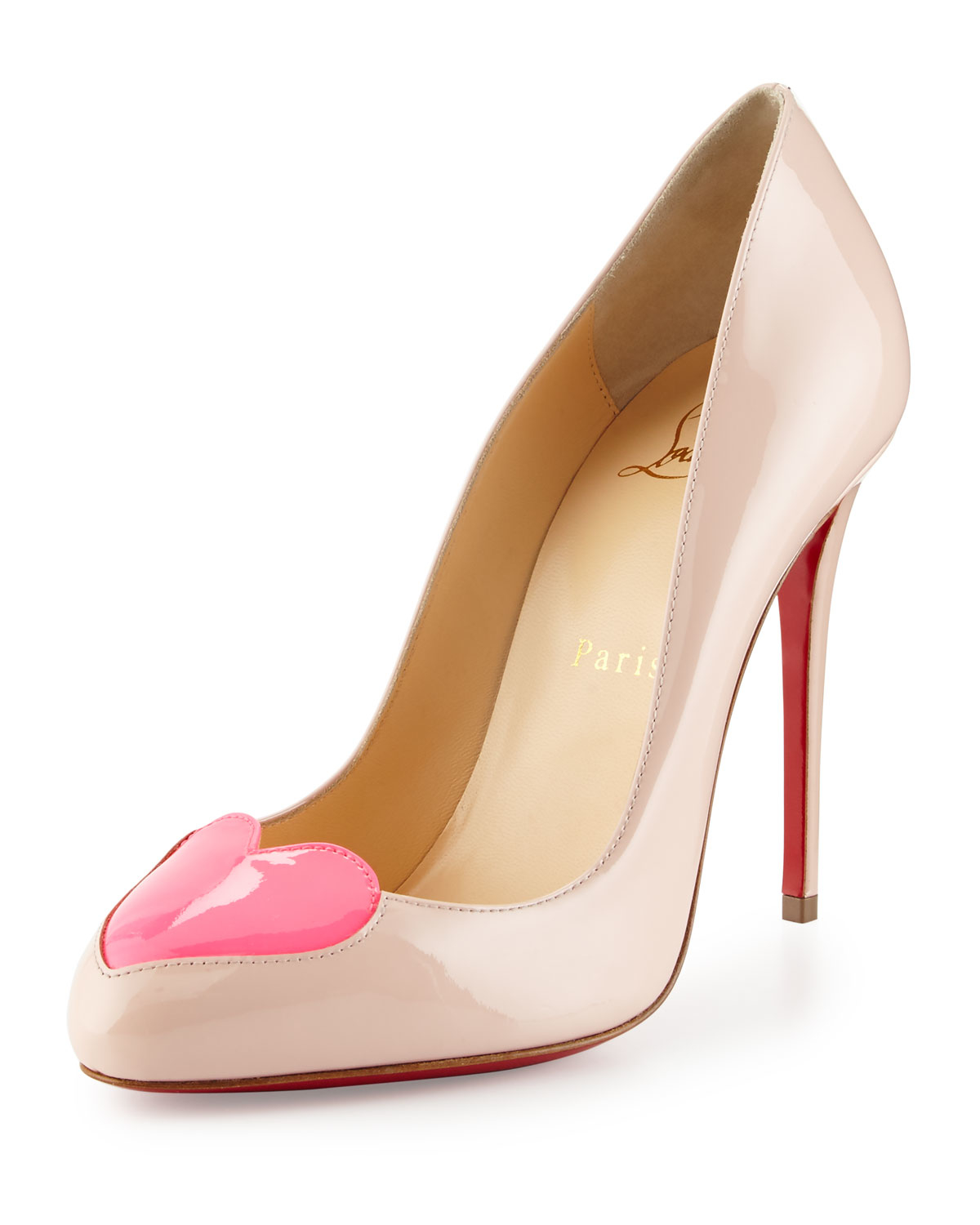 christian louboutin heart shaped shoes