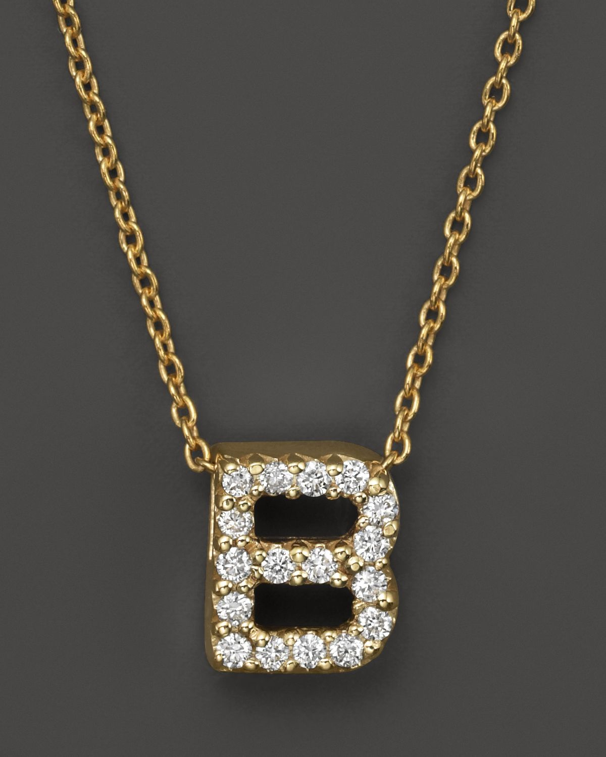 Roberto coin 18k yellow gold and diamond initial love for Roberto coin letter pendant