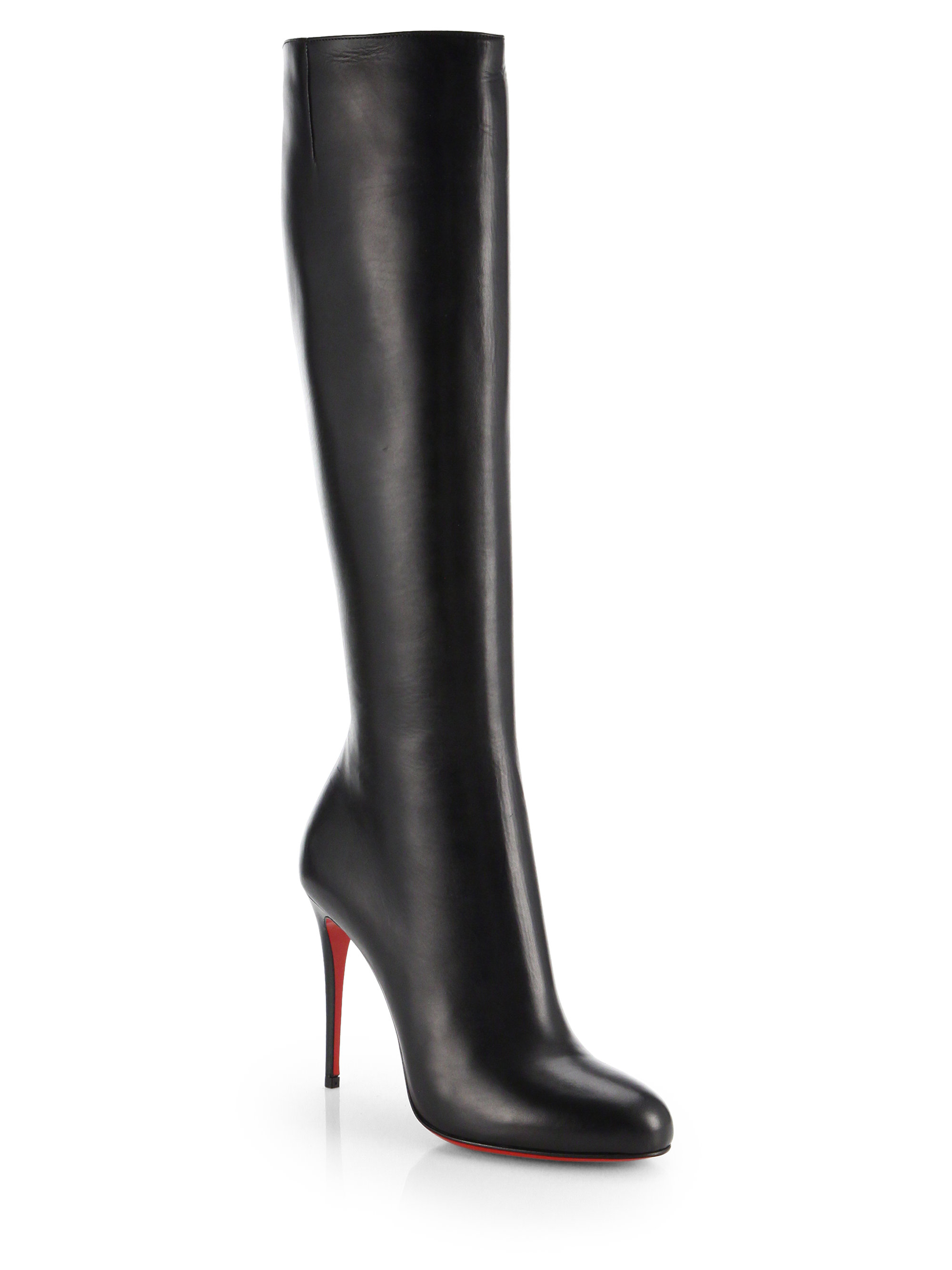 Christian louboutin Fifi Botta Suede Knee-high Boots in Black | Lyst