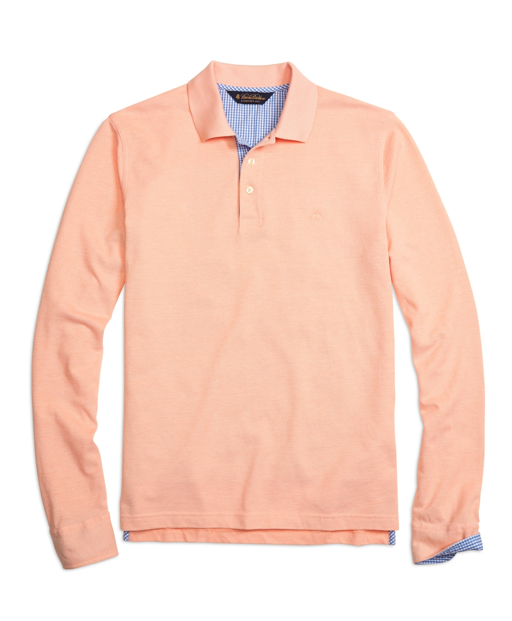 Brooks brothers slim fit long sleeve oxford collar polo for Men oxford slim fit long sleeve shirt