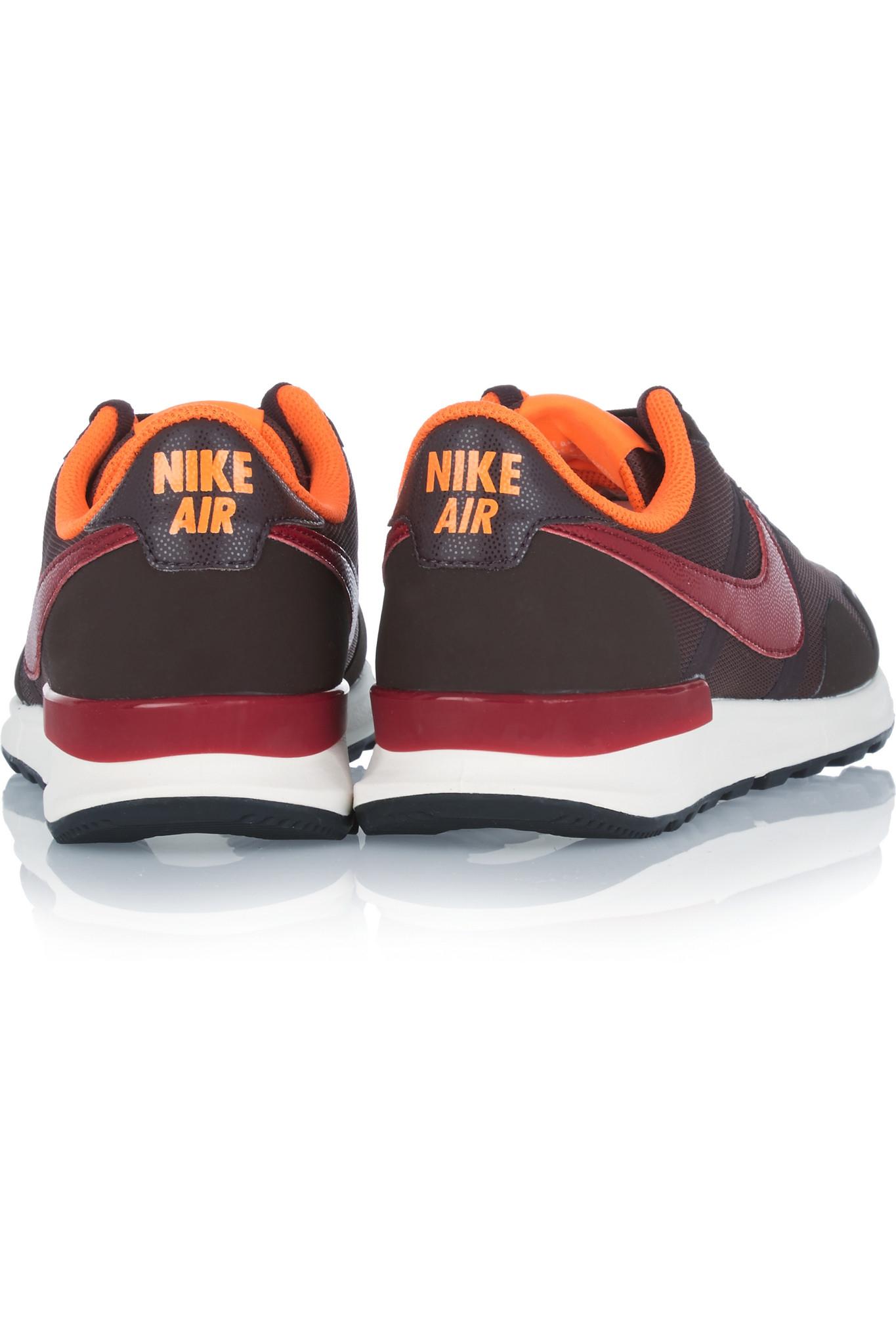 Nike Air Pegasus 83/30 Mesh, Rubber And Leather Sneakers in Burgundy (Purple)