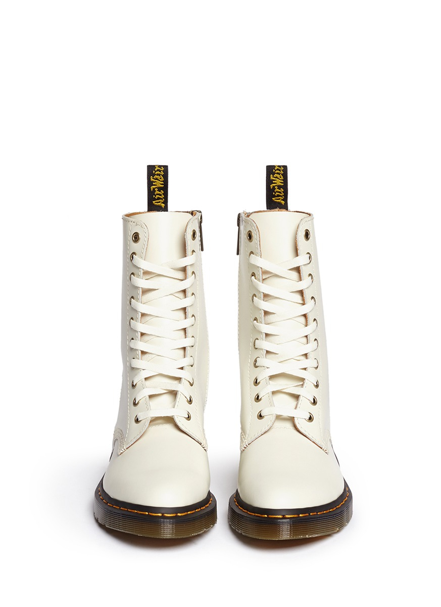 Dr. Martens 'alix' Matte Leather Boots in White
