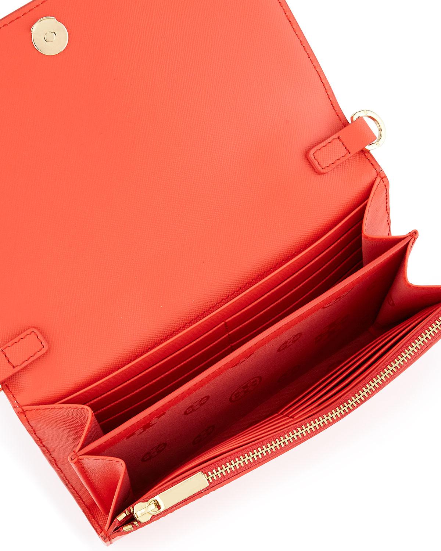 ed4e7b8b1e17 ... usa lyst tory burch robinson chain strap wallet bag in red 82472 f04b1  ...