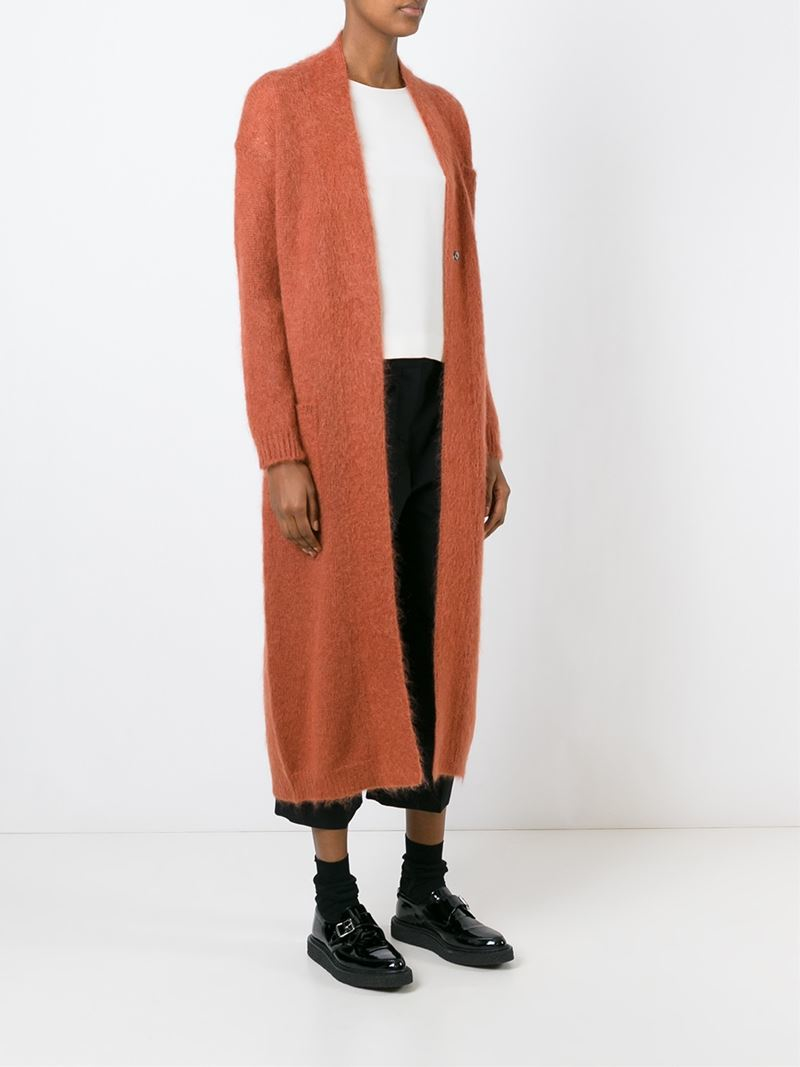 Erika cavallini semi couture Long Cardigan in Orange | Lyst